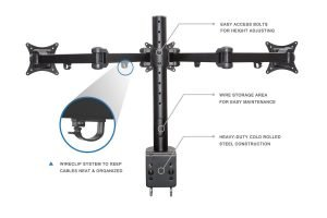 Mount-It! MI-753 Triple Monitor Desk Mount - More Details